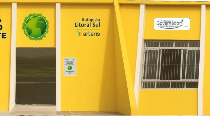 Autopista Litoral Sul conclui revitalização em Escola Municipal de Governador Celso Ramos-SC