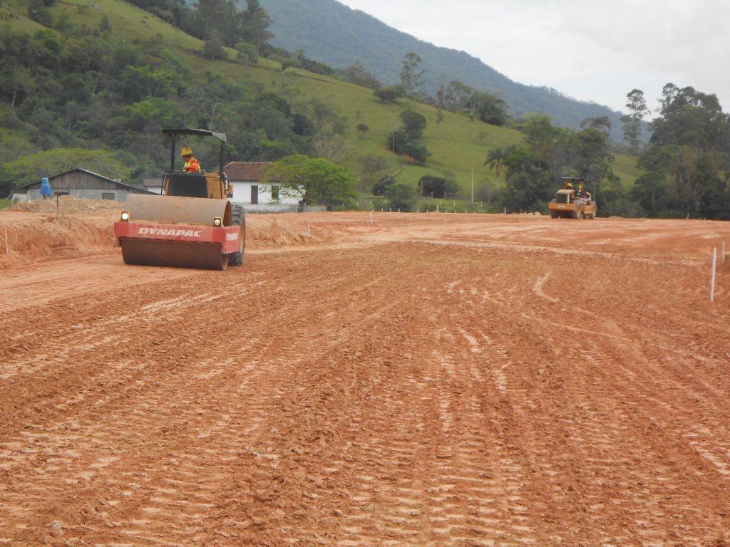 Obras Contorno de Florianópolis - Terraplanagem - Dezembro de 2014