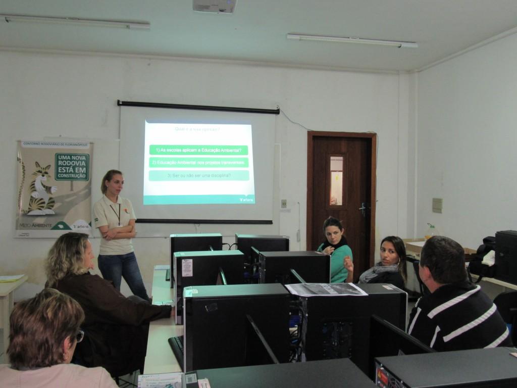 Educação Ambiental - capacitação de professores - Palhoça 2016