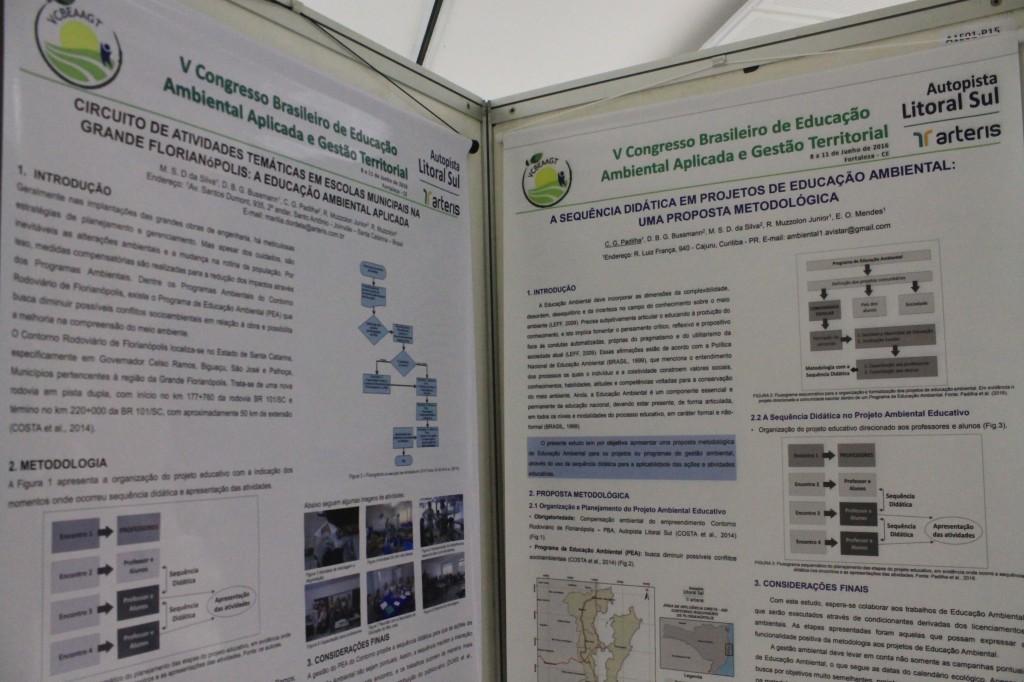 Apresentação de painéis sobre Educação Ambiental em congresso nacional