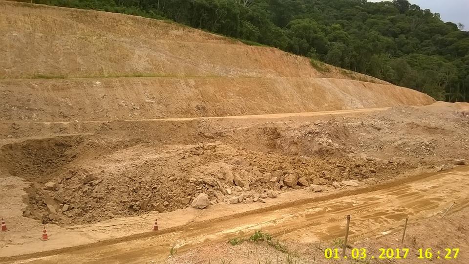 RESULTADO DE DETONAÇÕES DE ROCHAS – CONTORNO DE FLORIANÓPOLIS – PONTO CO-06 DETONAÇÃO 9