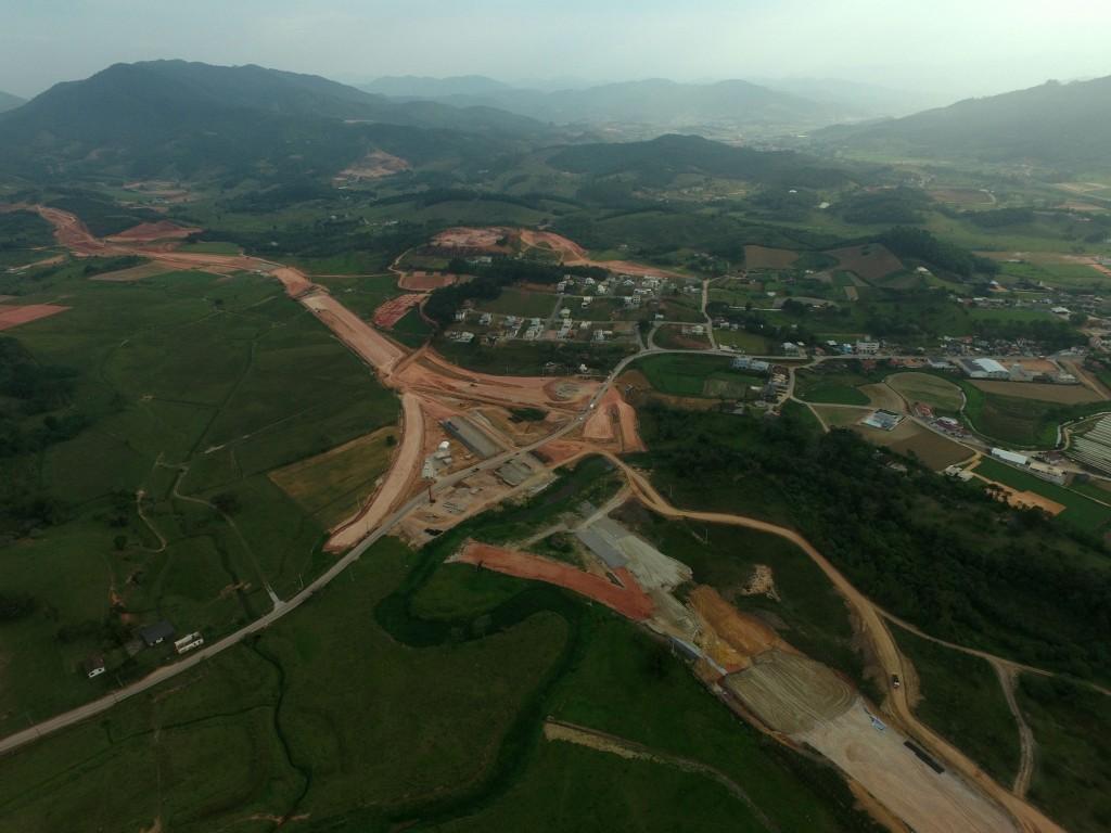 Vista Interseção SC 407 - Km 204.200 - Trecho 2N- Outubro de 2017