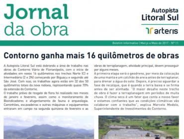 JORNAL DA OBRA - 11ª EDIÇÃO