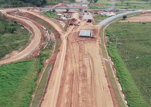 Agosto de 2018- Obra no trevo da SC 407- Biguaçu