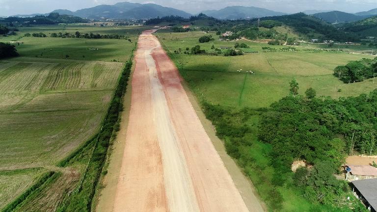 Maio de 2019 obras do Contorno Viário de Florianópolis