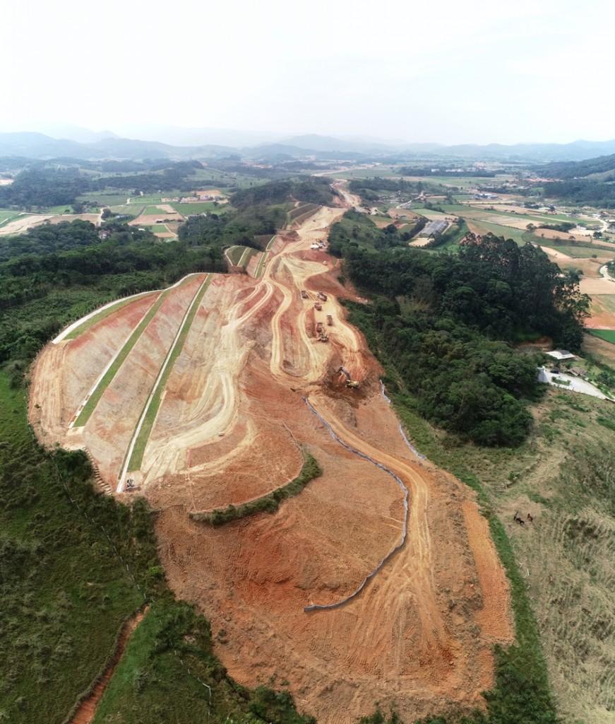 Vista aérea do Trecho Intermediário 2, em Biguaçu
