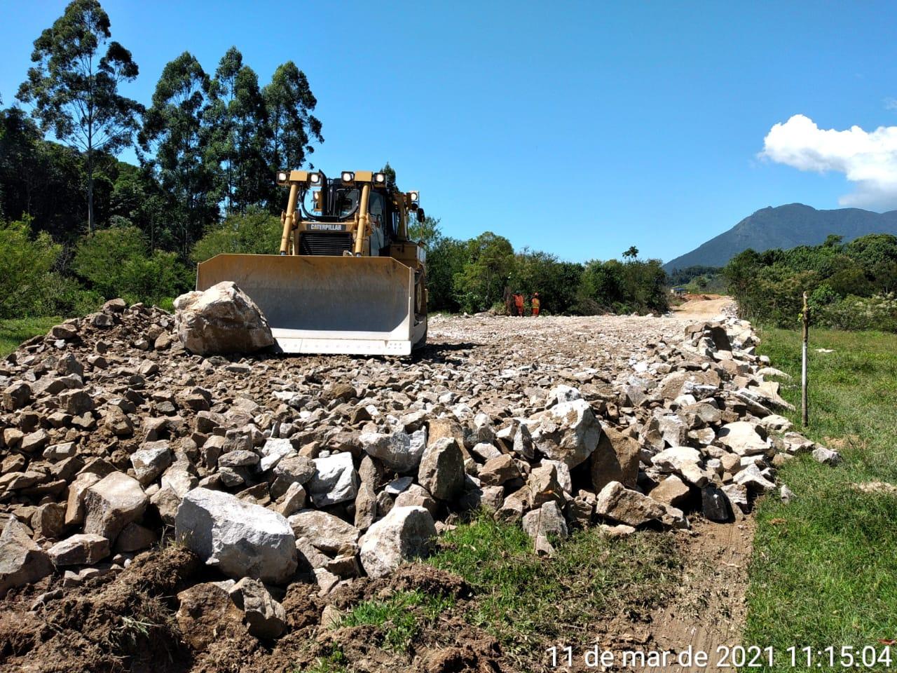 Abertura dos caminhos de serviço também marca início das obras do Trecho Sul