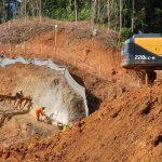 Construção dos emboques e chegada de máquinas permitem a escavação dos túneis